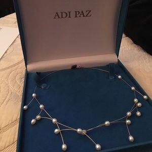 adi paz Jewelry - 14k gold pearl necklace designer