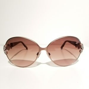 Swarovski Brown Oval Sunglasses