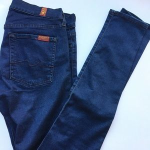 7 for all mankind skinny gwenevere jeans 28 EUC