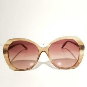 Bottega Brown Square Sunglasses