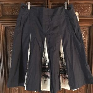Merona nautical pleated skirt size 8 NWT!