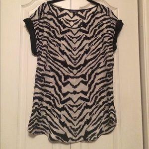 Zebra tunic length top