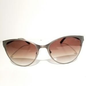 Bottega Black Gunmetal Cateye Sunglasses