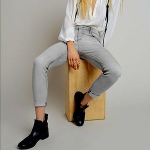 Free People High Rise Roller Light Gray