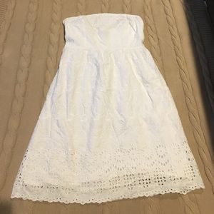 Old Navy strapless white dress size 8