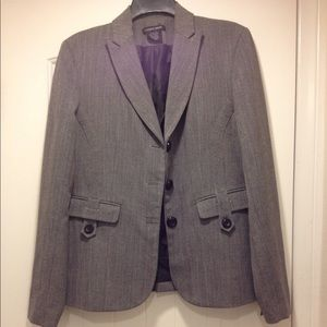 Great condition pinstriped blazer with peplum back
