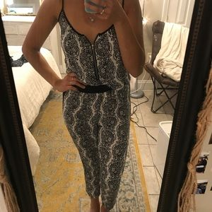 River island black and white jumpsuit