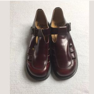 Dr. Martens cherry red leather Mary Janes