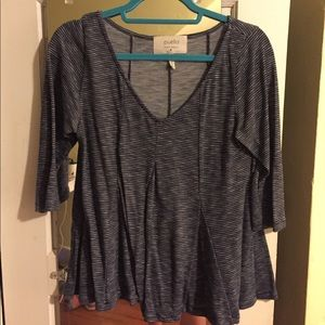 Anthropologie by Puella Blue Swing V Shirt Size M