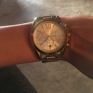 Gold Michael Kors Chronograph Watch