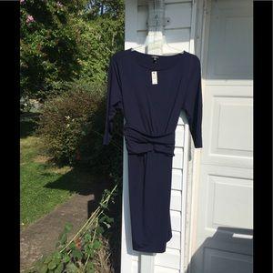 NWT Talbots Navy Blue Slip On Dress 2X 18W 20W