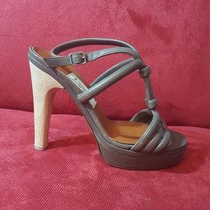 {lanvin} Leather Platform Sandals