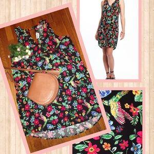 OLD NAVY- NWT XL floral&bird print shift dress.