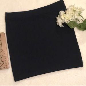 Forever 21 navy blue bodycon mini skirt