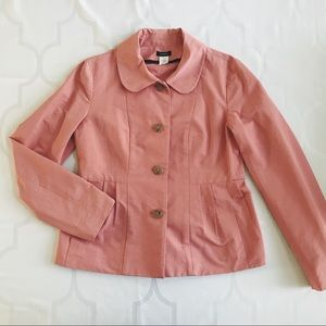 J Crew • Pink Faille Maisey Jacket
