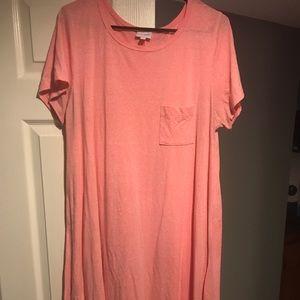 Pink lularoe Carly dress!
