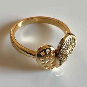 Women Ring 1K Gold Plated Ring One Carat Fashion
