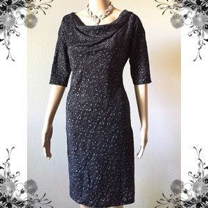 Adrianna Papell sparkle lace dress