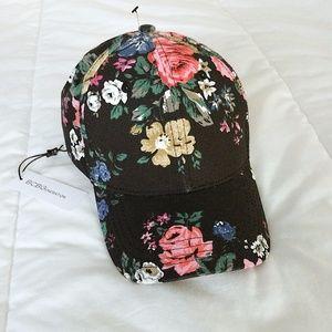 NWT BCBGeneration Floral Baseball Cap