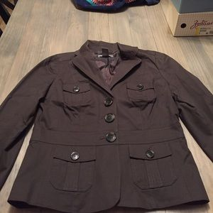 Brown Ann Taylor military jacket