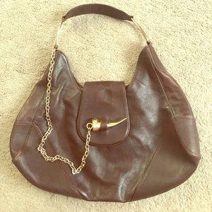 BOTKIER Brown Leather Hobo Bag