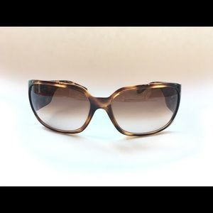Authentic Chanel tortoise diamond glasses on