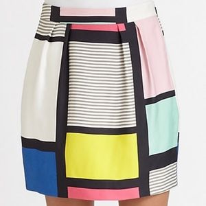 Kate Spade 0 Barry Colorblock skirt