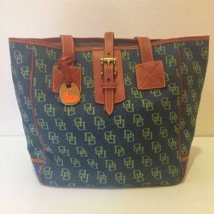 Dooney & Bourke Signature Denim Bucket Bag