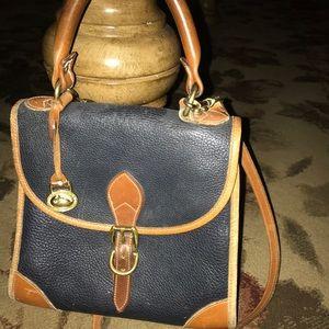 Dooney & Bourke Vintage Navy and Tan Purse Bag