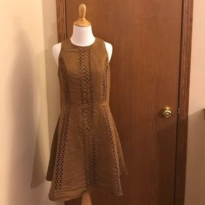 Mossimo Brown Suede Feel Dress