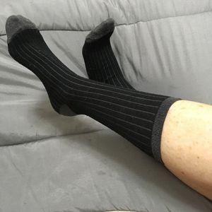 black and gray socks