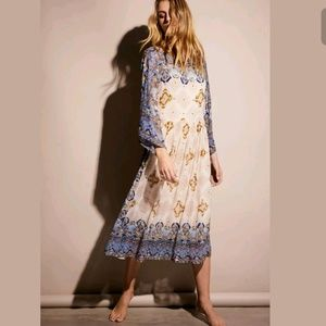 NEW Free People One Day Beaded/Sequin Midi Dress