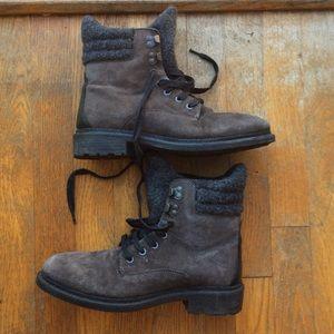 Zara men's brown winter boots
