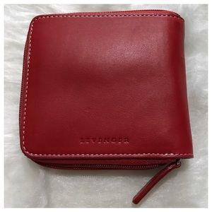 Levenger red wallet