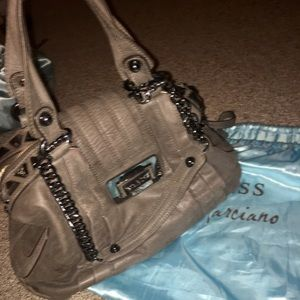 Guess by Marciano Gray Studded Satchel