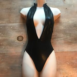 Rare American Apparel Zip Up Bodysuit