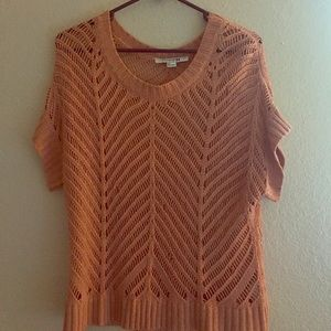 Salmon knit tee Forever 21 size S/P