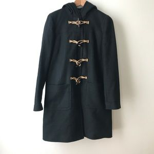 J. Crew Wool Cashmere Thinsulate Toggle Coat Blk 6