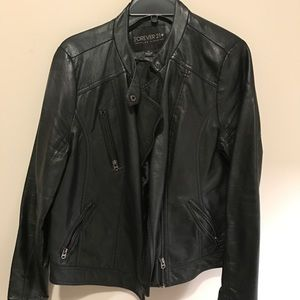 Forever21 + Faux leather jacket