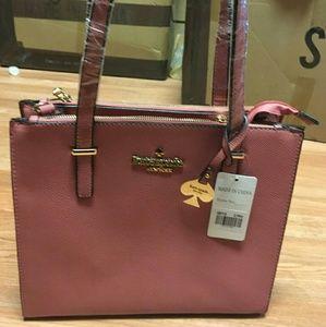 Square muave purse