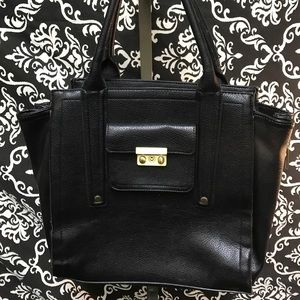 Newer Womens Solid Black Phillip Lim leather purse