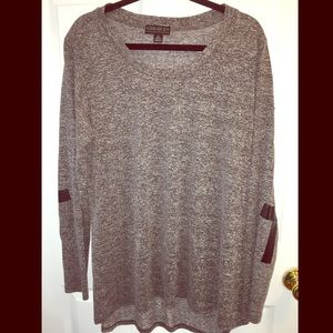 F21 Long Sleeve Shirt with Cross Elbow Patches