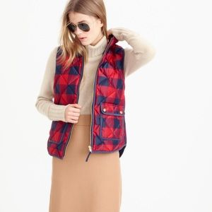 •J. Crew• NWT Buffalo Check Excursion Vest