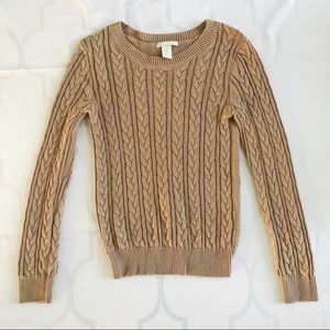 H&M • Tan Pullover Crewneck Sweater