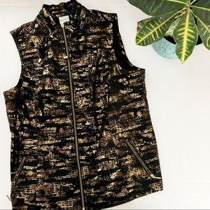 Chico's Zenergy Metallic Vest
