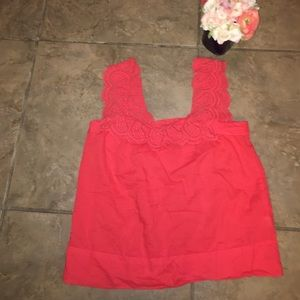 J crew size two red tank