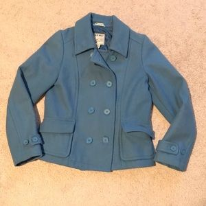 Old Navy double breasted blue pea coat