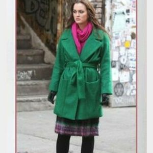Diane Von Furstenberg green Harrington coat