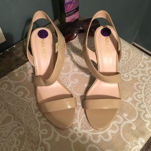 Nine West sling heels
