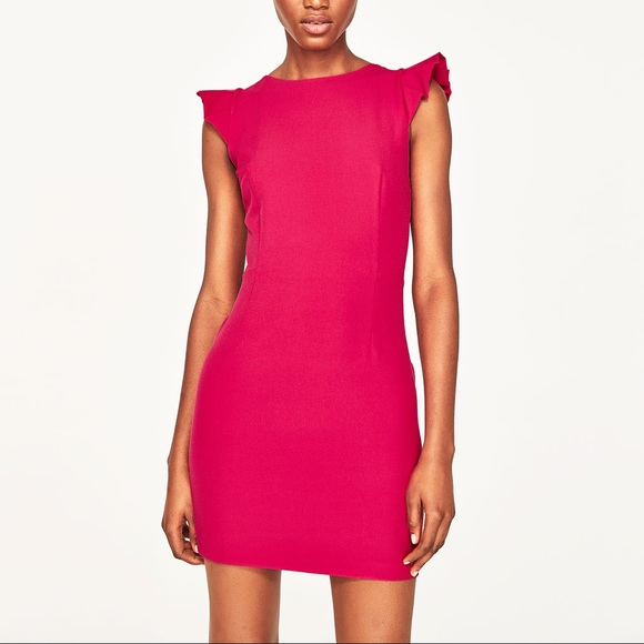 98be3d5e538 Zara fuchsia open back dress with bow